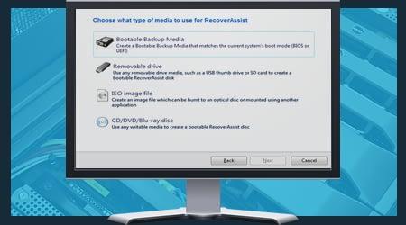 BackupAssist v9 - bootable backup media