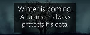 winter is coming - protecting data