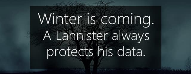 winter is coming - data protection