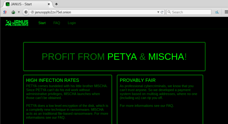 Petya and Mischa are being offered as a money-making tool to extort businesses.