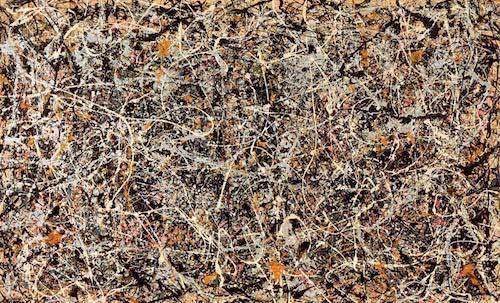 A Jackson Pollock painting.