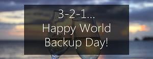 3-2-1 rule of backup - Happy World Backup Day