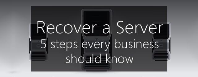 recover a windows server