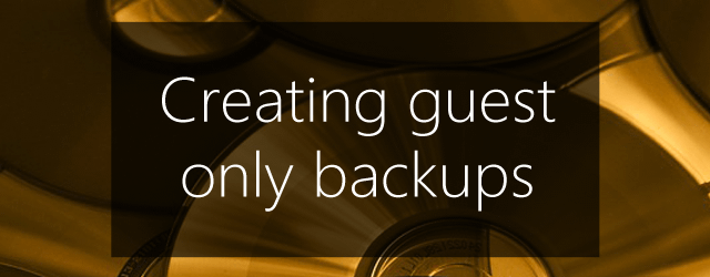 key to guest backups
