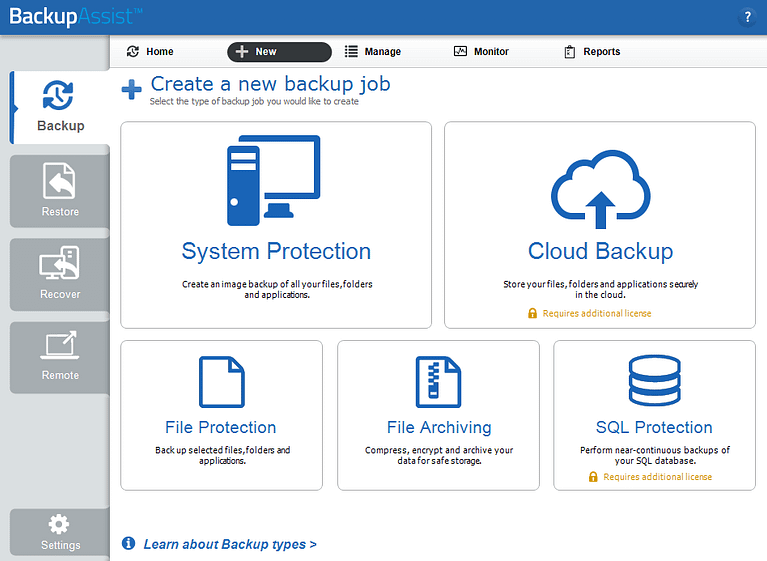 BackupAssist Classic includes a feature-rich set of Windows Server backup solutions.