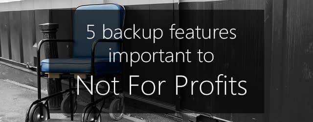 best backup solution for not for profits