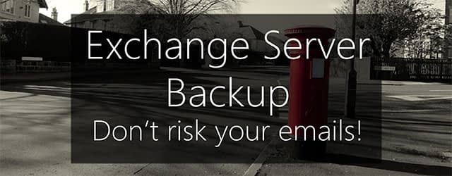 Exchange backup software - don't risk your emails
