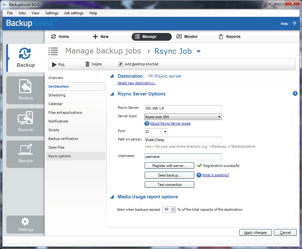 open ssh screenshot