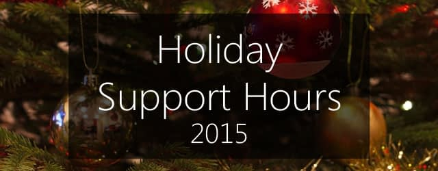 xmas support 2015