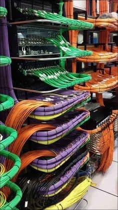 A perfect example of server cable setup.
