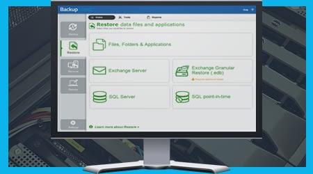 BackupAssist v9 - integrated restore console