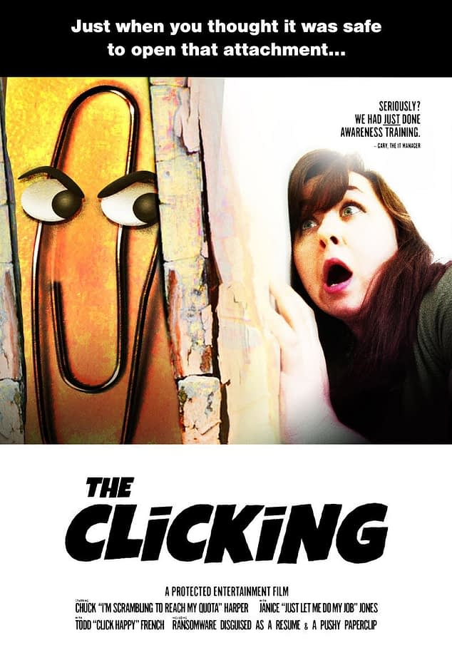 SysAdmin Halloween Poster: The Clicking