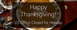 US office closed for thanksgiving
