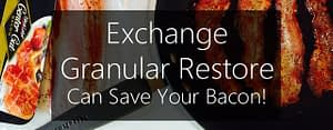Exchange Granular Restore can save your bacon!