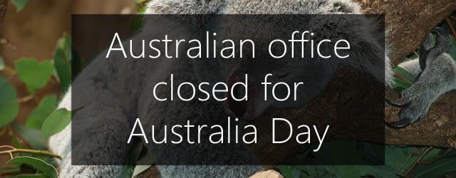 Australia day office closed