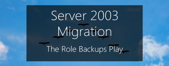the role backups play in server 2003