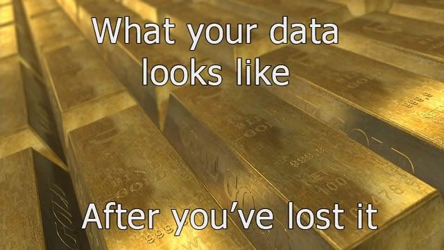 Business backup data loss