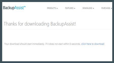 free trial of backupassist - getting started