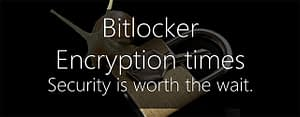Bitlocker encryption times