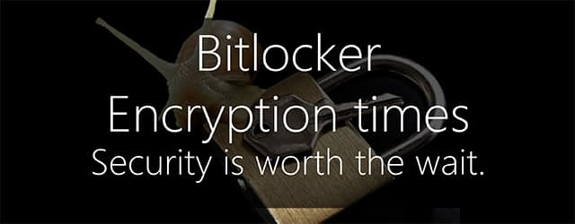 Bitlocker encryption times