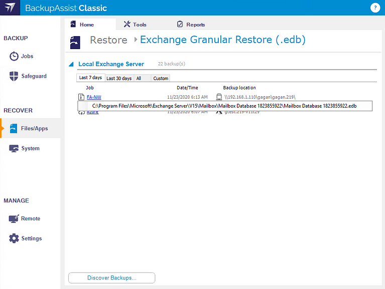restore-exchange-granular-database-selection